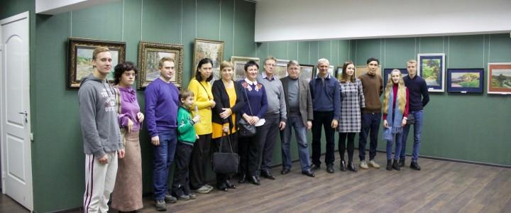 Открытие персональной выставки доцента кафедры рисунка В.А.Ваняева