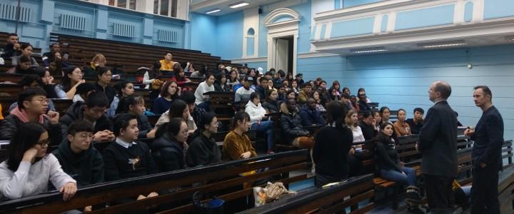 Встреча со слушателями подготовительного факультета по русскому языку как иностранному