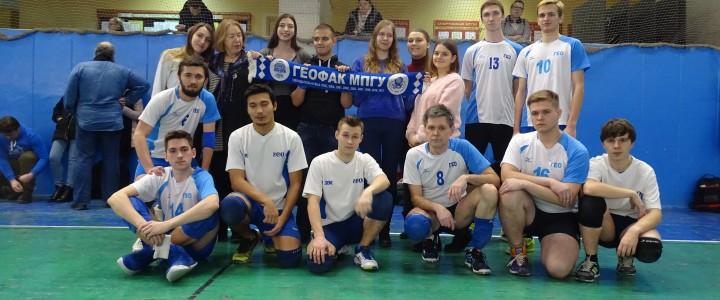 Новая победа Географического факультета! 3-е место в турнире МПГУ по волейболу!