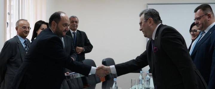 Ректор МПГУ встретился с исполняющим обязанности министра образования и науки республики Армения, а также с Католикосом всех армян