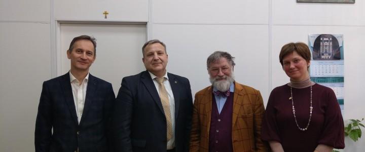 Визит почетного профессора МПГУ Уилсона Тимоти Эрика