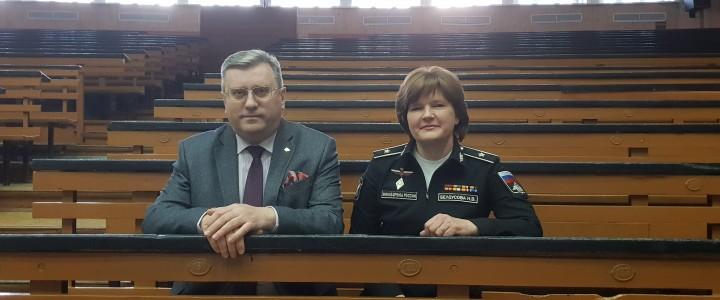 Ректор А.В.Лубков встретился с представителем Министерства обороны Н.В.Белоусовой