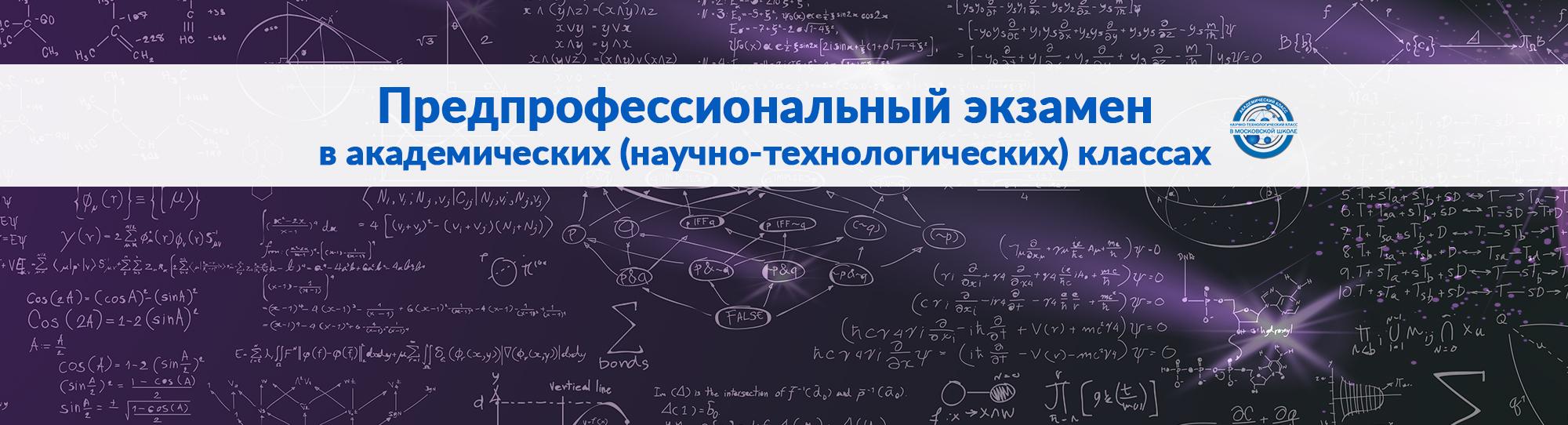 Предпрофессиональный экзамен в академических (научно-технологических) классах291