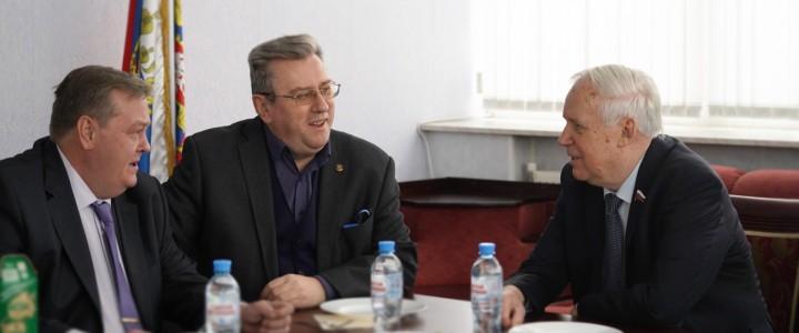 Ректор МПГУ встретился с Н.И.Рыжковым
