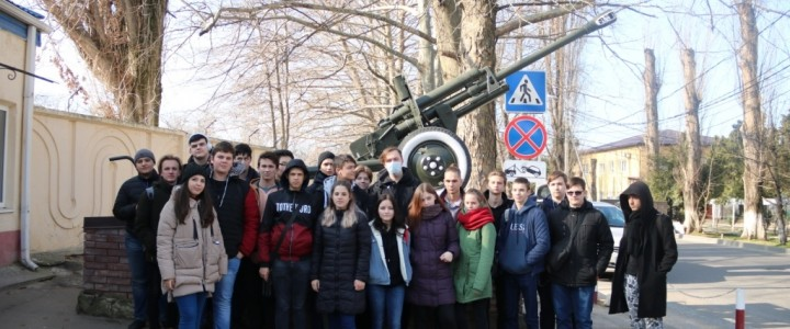 Студенты Анапского филиала МПГУ посетили экскурсию в воинской части