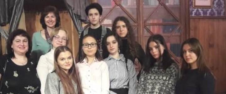 Лицеисты на спектакле «Вишнёвый сад» в театре «Сфера»