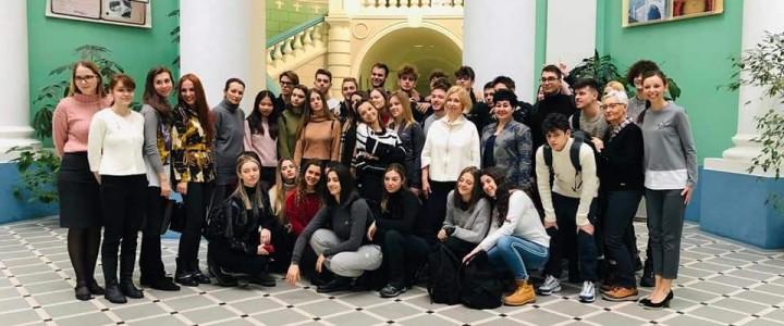 Прием делегации преподавателей и учащихся лицея «Валтурио» (Италия)