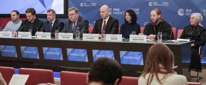 Ректор МПГУ выступил на круглом столе по вопросам совершенствования курса ОРКСЭ в РИА Новости