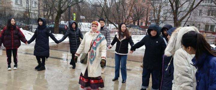 Иностранные студенты МПГУ встретили Масленицу