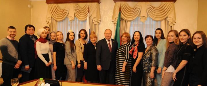 Встреча делегации МПГУ с Полномочным представителем Республики Татарстан в Российской Федерации