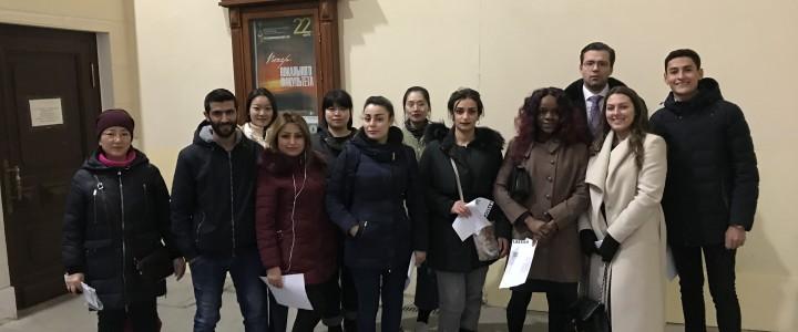 Иностранные студенты посетили концерт в Московской государственной консерватории имени П.И.Чайковского «Мелодии весны»