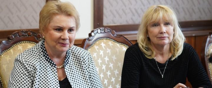 Ректор МПГУ провёл встречу с руководителем Национального офиса Erasmus+ в России