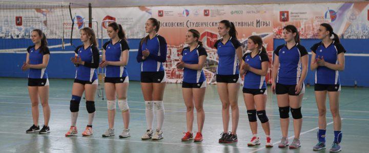 Наша женская сборная заняла 1 место в чемпионате МПГУ по волейболу