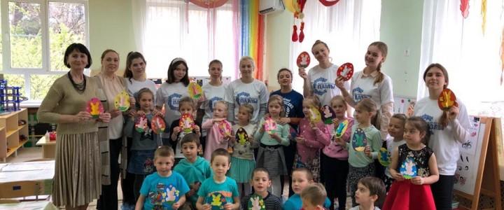 """Педагогический отряд """"Пазлы"""" провел мастер-класс для воспитанников детского сада №12 """"Солнышко"""""""