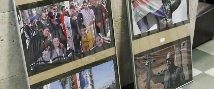 Открытие выставки о войне в Сирии