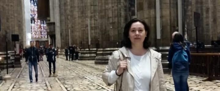 Профессор кафедры педагогики института «Высшая школа образования» С.Ю. Дивногорцевапрошла стажировку в Италии