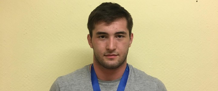Кантемир Шибзухов студент 1 курса ИФКСиЗ победитель первенства Европы до 24 лет по борьбе сумо
