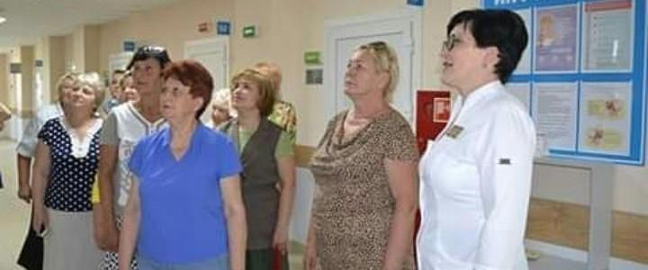 Экскурсия коллектива и студентов Егорьевского филиала МПГУ в новую Городскую женскую консультацию.