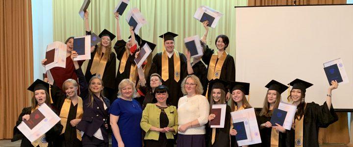 Вручение дипломов выпускникам Факультета дошкольной педагогики и психологии
