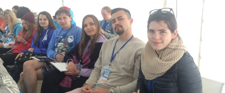 Председатель Студенческого совета Анапского филиала МПГУ на Международной смене Волонтеров Победы