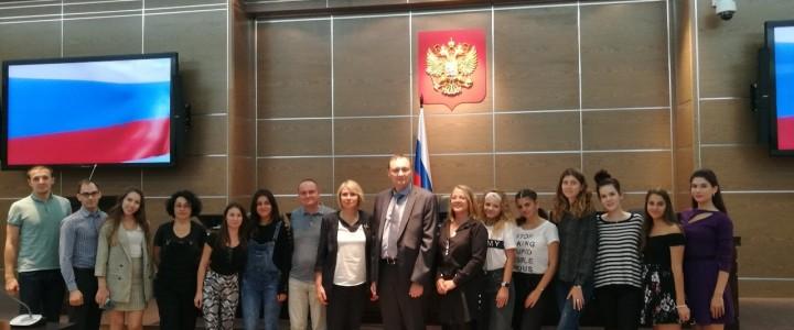 Студенты из Великотырновского университета (Болгария) знакомятся с деятельностью Арбитражного суда МО