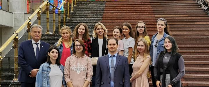 Работники Дирекции изучения истории МПГУ и студенты Университета на международной конференции в Музее Победы
