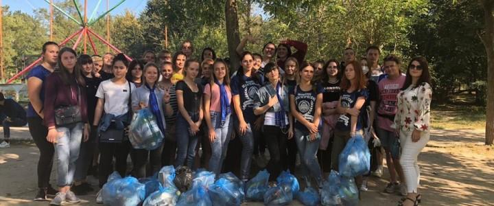 Волонтеры Анапского филиала МПГУ провели экологическую акцию