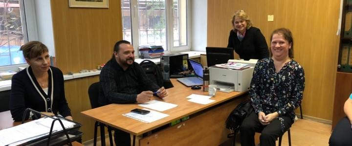 Совещание на кафедре ТМОМИ с представителями школ – баз практики