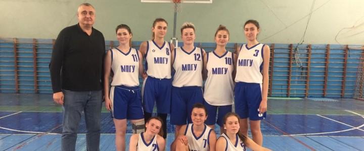 Убедительные победы наших сборных МПГУ по баскетболу в рамках Московских студенческих спортивных игр