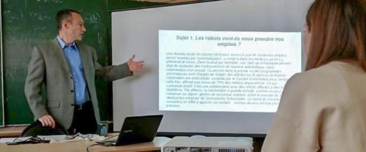 Мастер-класс по подготовке к устной части международного экзамена DELF B2 от лектора французского языка Доминика Жан Луи Кадье