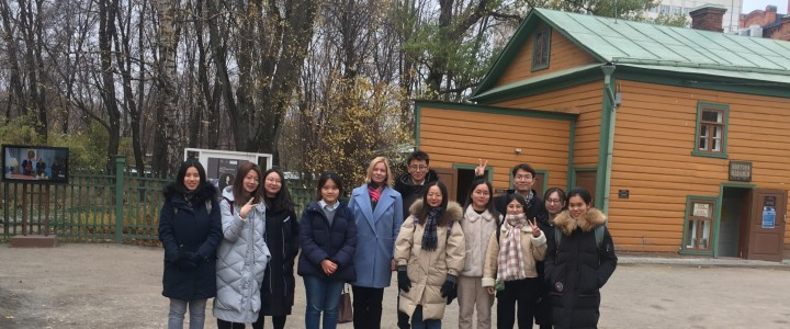Китайские студенты Института филологии посетили музей-усадьбу Л.Н. Толстого в Хамовниках