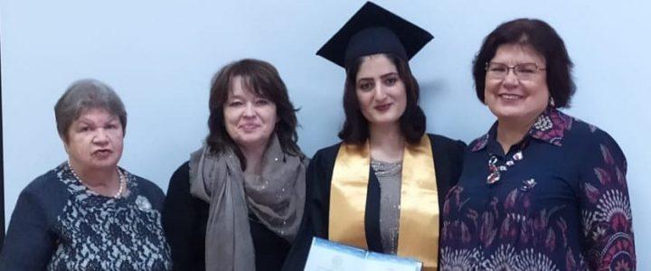 Торжественное вручение диплома об окончании третьей ступени высшего образования аспирантке из Сирии состоялось на Факультете дошкольной педагогики и психологии