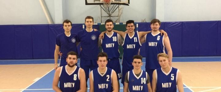Очередная победа мужской сборной МПГУ по баскетболу