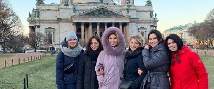 Студенты кафедры психологической антропологии Института детства в Санкт- Петербурге
