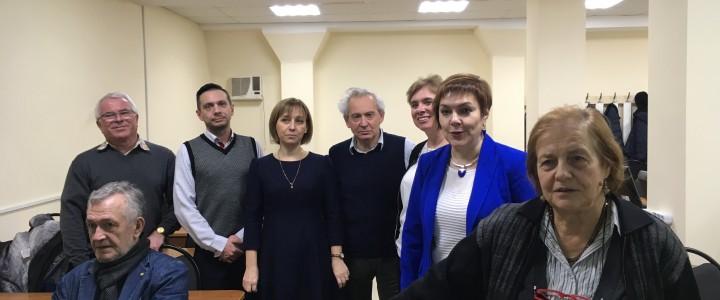 Сотрудники лаборатории МФПО на семинаре «Русский научный язык» в МГУ