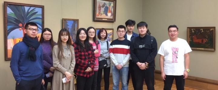 К 135-летию Зинаиды Серебряковой: группа китайских студентов ХГФ ИИИ МПГУ посетила Государственную Третьяковскую галерею