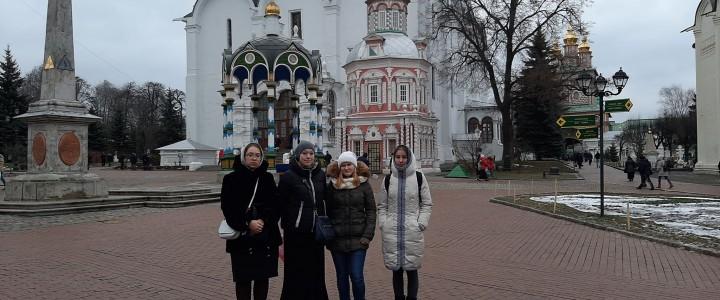 Студенты Сергиево-Посадского филиала МПГУ на экскурсии в Свято-Троицкой Сергиевой Лавре