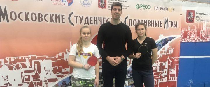 Cтуденты Колледжа МПГУ 4 декабря 2019 года приняли участие в соревнованиях по настольному теннису