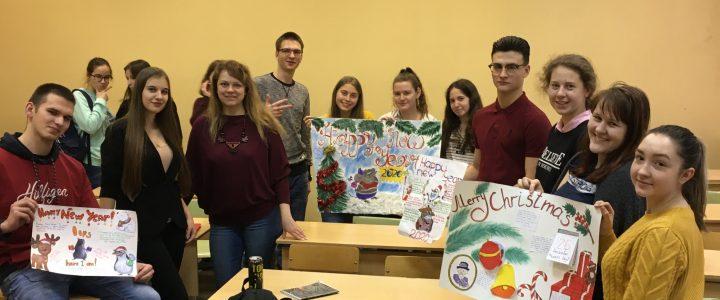 Первокурсники поучаствовали в конкурсе Рождественских плакатов
