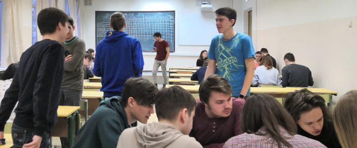 Cтуденты первого курса приняли участие в игре «+5, -2»