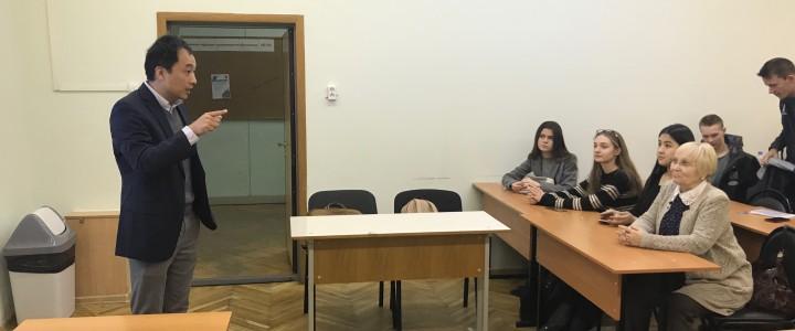 Мастер-класс китайского предпринимателя для студентов ИСГО