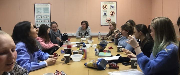 Круглый стол организованный учебно-научным сектором студенческого совета Факультета дошкольной педагогики и психологии
