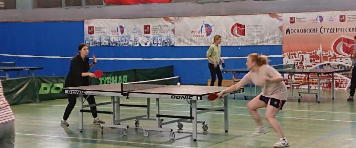 Теннисистки Лицея вошли в пятерку лучших на спартакиаде МПГУ
