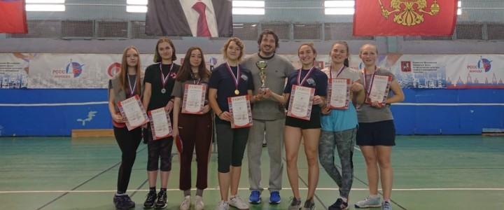 Прошло первенство по настольному теннису среди девушек в рамках ХХХ спартакиады МПГУ