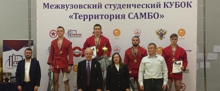 Антон Лебедев занял 1 место по спортивному самбо