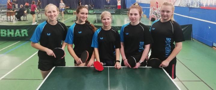 Женская команда МПГУпо настольному теннисузаняла3 место по итогам XXXII Московских Студенческих Игр
