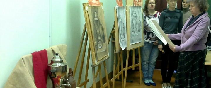 В Сергиево-Посадском филиале МПГУ прошёл итоговый просмотр учебных работ по рисунку студентов 4 курса направления «Педагогическое образование. Изобразительное искусство» заочной формы обучения