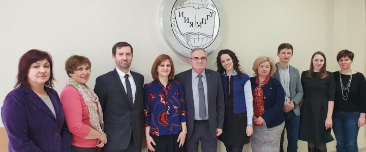 В ИИЯ прошли переговоры с представителями Посольства Франции