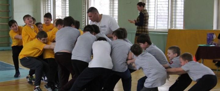Студенты Института детства на ознакомительной практике: «Веселые старты» в школе № 991 Москвы