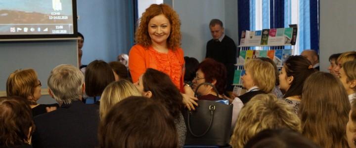 Доцент кафедры социальной педагогики и психологии М.Ю. Чибисова на конференции в Санкт-Петербурге